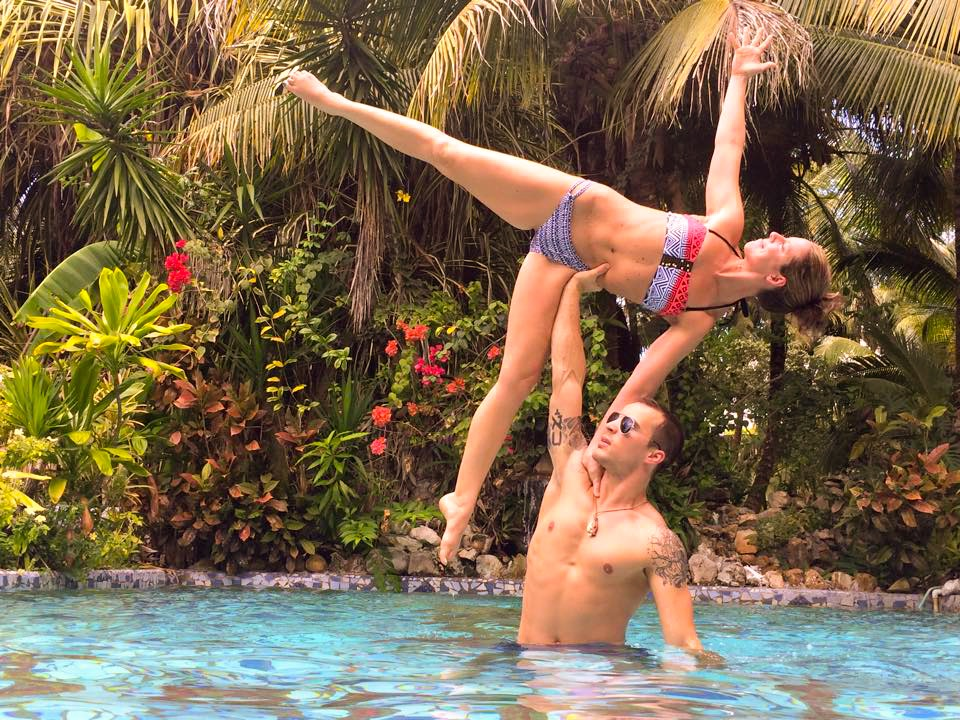 Maruba Resort Junge Spa Belize acro yoga fun