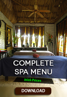 Belize Jungle Spa Menu