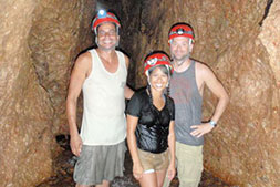 Photo of Nicky with Guests in ATM Cave