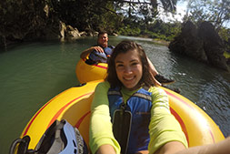 cave tubing photo