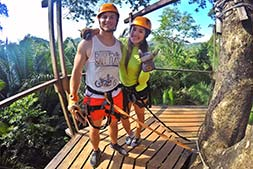 couple ready to ride the Zip Line